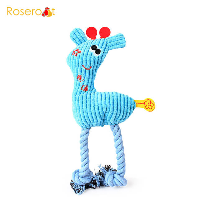 plush rope toy dog